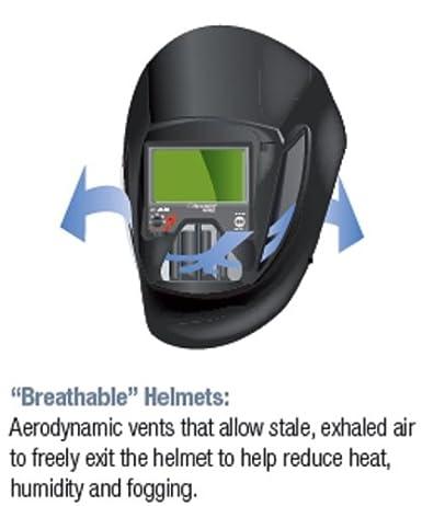 25-5802-10SW with SideWindows and Auto-Darkening Filter 9100V 8-13 Shades 5 3M Speedglas Fresh-Air III Supplied Air System with V-200 Vortemp Air-Heating valve and Speedglas Welding Helmet 9100-Air