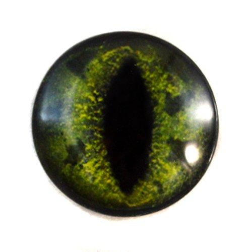 30mm Green Alligator or Dragon Glass Eye for Taxidermy Sculptures or Jewelry Making Pendant Crafts