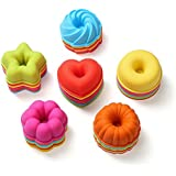 36-Pcs Reusable Silicone Donuts Pans by To encounter - Nonstick & Heat Resistant Doughnuts Mold - BPA Free Donuts Baking Molds (36)