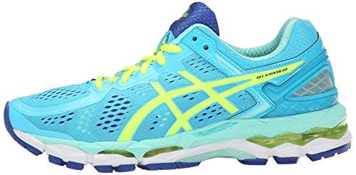 ASICS Women's Gel Kayano 22 Running Shoe, Ice Blue/Flash Yellow/Blue, 8 M US by ASICS (Image #5)