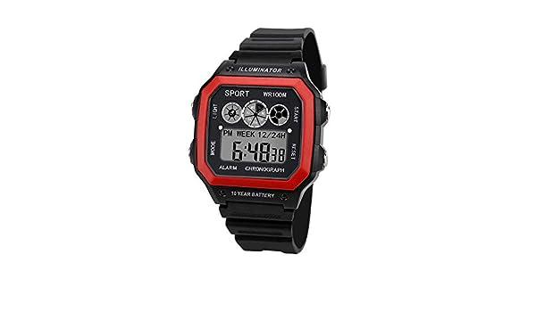 Beladla Relojes Hombre Originales Impermeabl Deportes Al Aire Libre Casual Cuarzo CronóGrafo Calendario Acero Inoxidable Reloj: Amazon.es: Ropa y accesorios