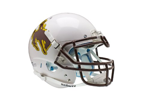 NCAA Wyoming Cowboys Authentic XP Football Helmet by Schutt