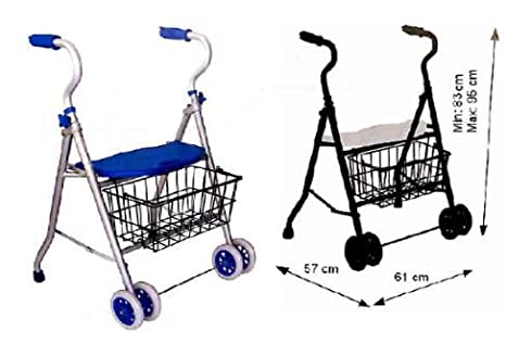 Andador de aluminio 2 ruedas y cesta: Amazon.es: Bebé