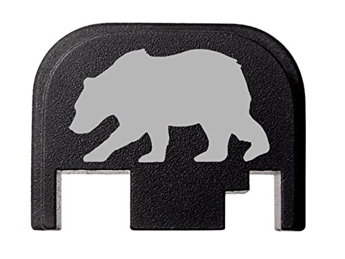 NDZ Performance for Glock 17 19 21 22 23 27 30 34 36 41 Rear Plate Blk G1-4 Bear Silhouette 3