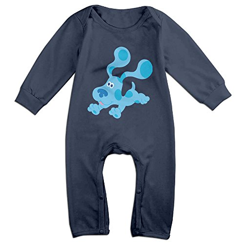 Cute Geek Blue's Clues Dog Romper For Infant Navy Size 24 Months - Blues Clues Blue Romper