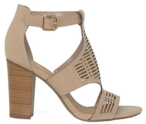 MVE Sandal Chunky Cut Women's Out Shoes Toe f Open Sandnbpu Heel HAHPqr