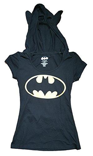Batman+Shirts Products : Halloween Juniors DC Comics Batman Costume Hoodie Graphic T-Shirt