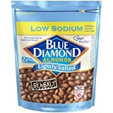 Blue Diamond, Lightly Salted Low Sodium Almonds, 25oz Bag (Pack of 2) Review