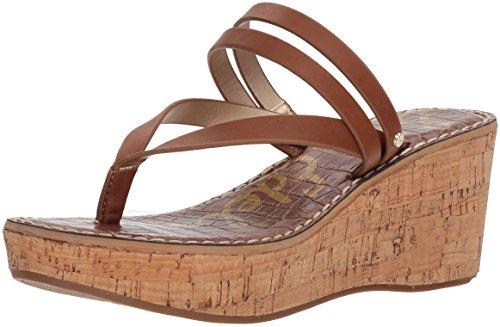 (Sam Edelman Women's Rasha Wedge Sandal, Luggage, 9.5 M US)