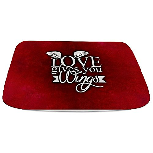 Bathmat Large Love Gives You Wings by Truly Teague