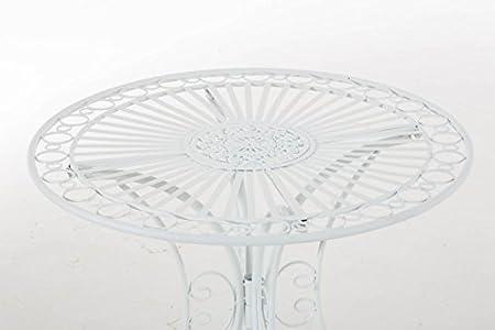 CLP Table de Jardin en Fer Forgé Hari, petite table de ...