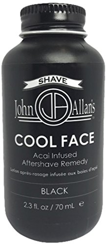 John Allan's Cool Face- After Shave Remedy, Black, 2.3 fl. oz.