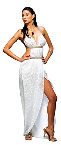 UHC Women's Warrior Queen Gorgo Spartan Roman Halloween Adult Costume, M (10-14) (Queen Gorgo Adult Costumes)