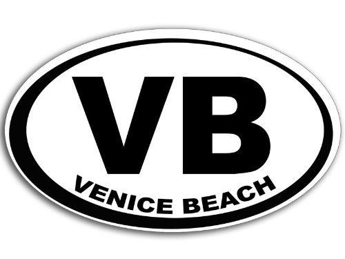 Oval VB Venice Beach Sticker (ca city - Hours Venice Beach