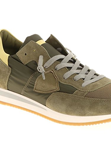 Philippe Model Sneakers Uomo TRLU1110 Tessuto Marrone