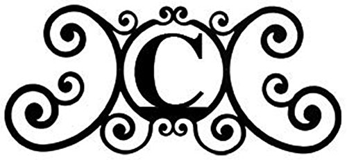 (Wrought Iron House Plaque Letter C)