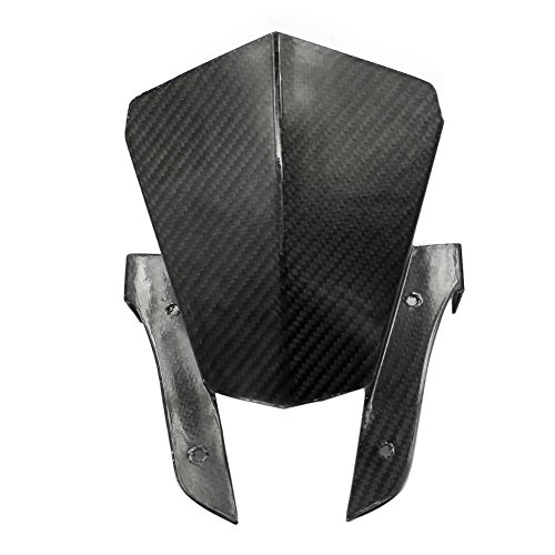 Alpha Rider Motorcycle Motorbike Carbon Fiber Black Windshield Windscreen For Yamaha MT-07 FZ-07 2013 - 2017
