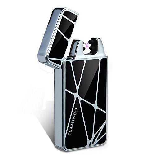 Kivors Dual Arc Lighter - Flameless Windproof Rechargeable USB Plasma Double Arc Cigarette Lighter