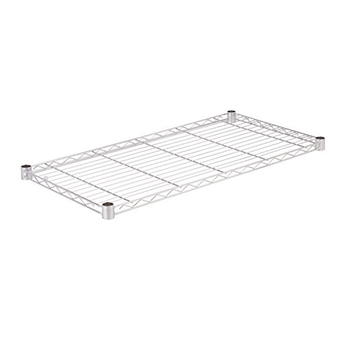 Honey-Can-Do SHF350C1836 Steel Wire Shelf for Urban Shelving Units, 350lbs Capacity, Chrome, 18Lx36W