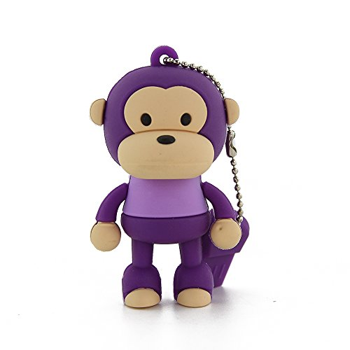 CHUYI Novelty Standing Monkey Shape 8GB USB 2.0 Flash Drive Cute Animal Pen Drive Thumb Drive Memory Sticks Jump Drive Gift (Purple) (Pen Drive Monkey)