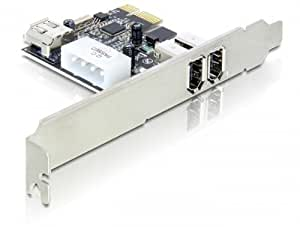 DeLOCK 3-port FireWire PCI Express Card Interno IEEE 1394/Firewire tarjeta y adaptador de interfaz - Accesorio (PCIe, IEEE 1394/Firewire, VIA, 400 Mbit/s, PC, Windows 2000/XP/Server 2003 Windows Vista 32/64-bit)