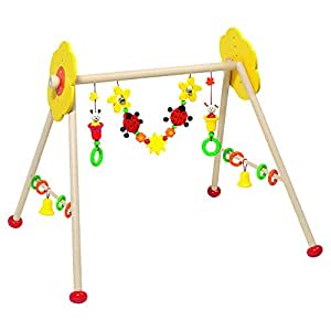 Wooden Non-toxic Baby Gym with Insects and Flowers By Heimess