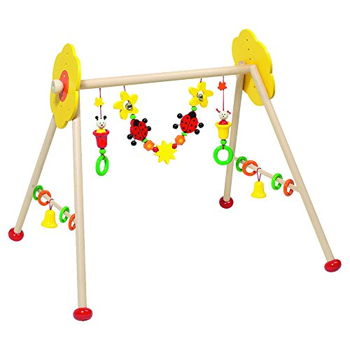 Wooden Non-toxic Baby Gym with Insects and Flowers By Heimess by Heimess