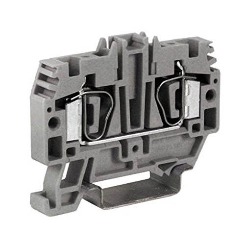 Through Terminal (ASI HM250GR Single Level Feed-Through Spring Clamp Terminal Block, DIN Rail, 30 amp, 600V, 28 to 10 AWG, 6.2 mm (Pack of 60))