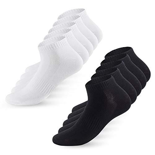 YouShow Sneaker Socken Herren Damen 10 Paar Atmungsaktives Mesh Sportsocken Kurze Halbsocken Baumwollsocken