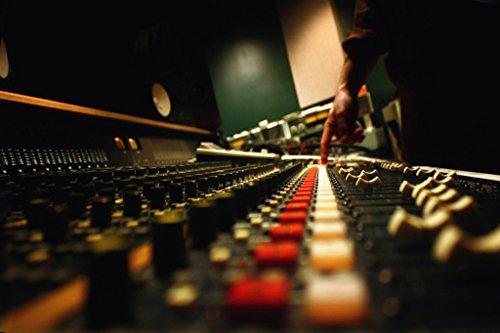 Recording Studio Control Panel Photo Art Print Poster