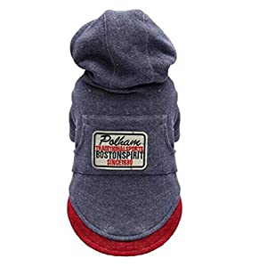 Hat Dog Clothes Autumn and Winter Cold Weather Dog Coat Warm Clothes(color2 2XL) Click on image for further info.