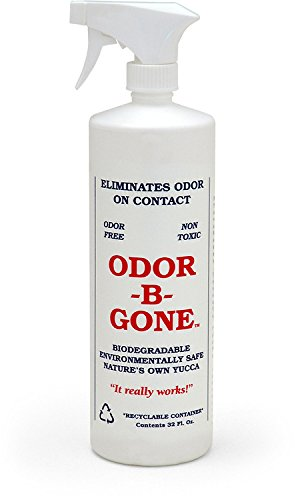 Odor-B-Gone - Cat Urine & Pet Odor Remover Spray - All Natural 100% Safe for Pets and Kids - Odor-Free - No Dyes or Perfumes - 32 oz Spray Bottle