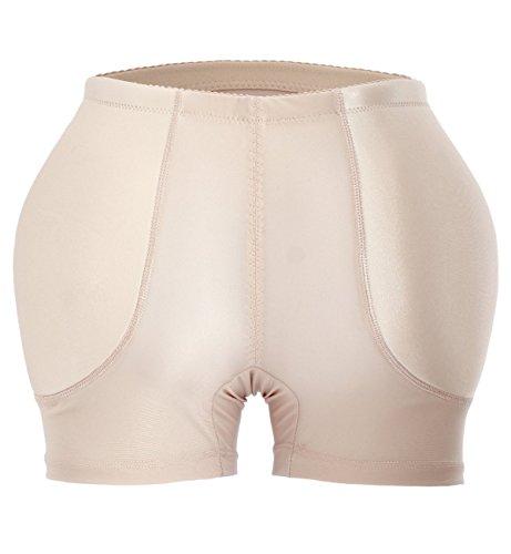 YIANNA Womens Tummy Control Panty Underwear Pads Butt Lifter Shaper Fake Butt, A1117-Skin-M
