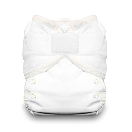 Thirsties Duo Wrap Cloth Diaper Cover, Hook and Loop Closure, White Size One (6-18 lbs) from Thirsties