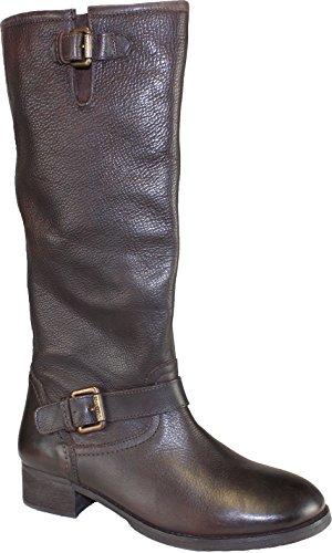 Marc O'Polo - Botas de cuero para mujer marrón marrón oscuro 7 1/2
