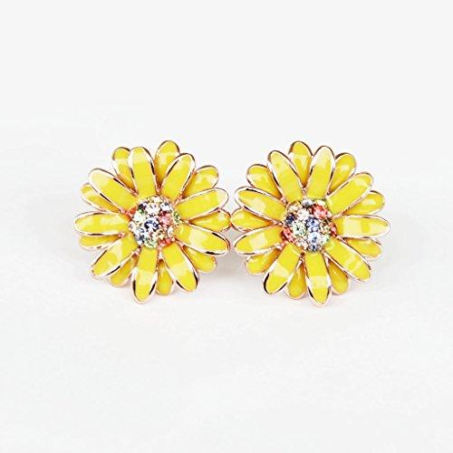 Yellow Daisy Earrings - 6