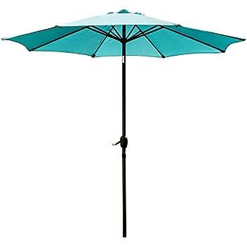 Superieur SNAIL 9u0027 Patio Umbrella UV Protection Fade Resistant Outdoor Market Umbrella  With Push Button Tilt