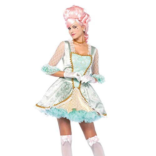 Leg Avenue Women's Rococo Marie Antoinette Versailles Beauty Costume, Green/Gold, -