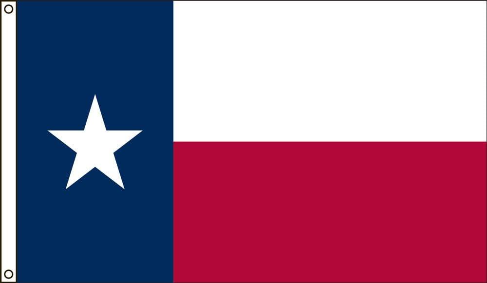"12x18 Embroidered Sewn Texas Pole Sleeve Nylon Flag 12/""x18/"" Made in USA"