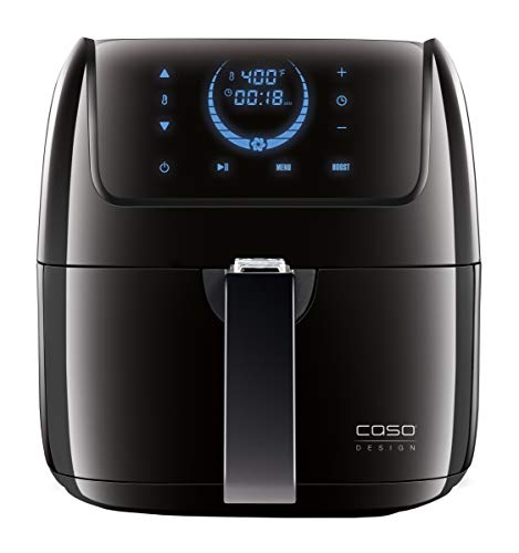 Caso Design AF 300 Fat-Free Convection 8 Automatic Settings, 13172 Hot Air Fryer, 2 lbs of food, Black