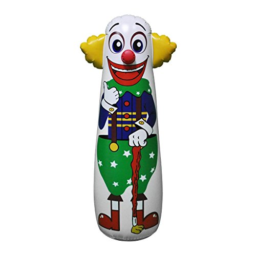 Jet Creations Inflatable Clown Punching Bag, 42