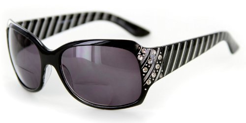 - Stars and Stripes Fashion Bifocal Sunglasses with Crystals by Ritzy Readers (Black +1.75) by Aloha Eyewear