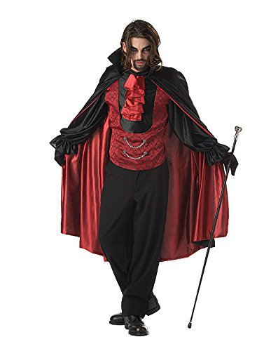 California Costumes Men's Count Blood Thirst Costume, Black/red, Medium -