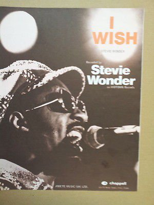 Price comparison product image song sheet I WISH Stevie Wonder 1976