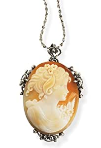 Flora Cameo Necklace and Brooch