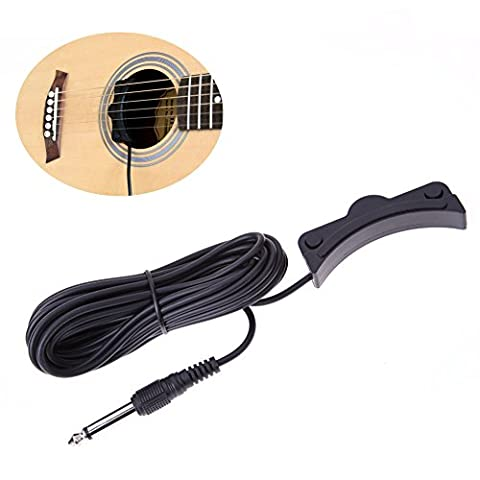 Domybest Acoustic Guitar Soundhole Pickup with 1/4 Jack 16.4 Foot Cable (Acoustic Classic)