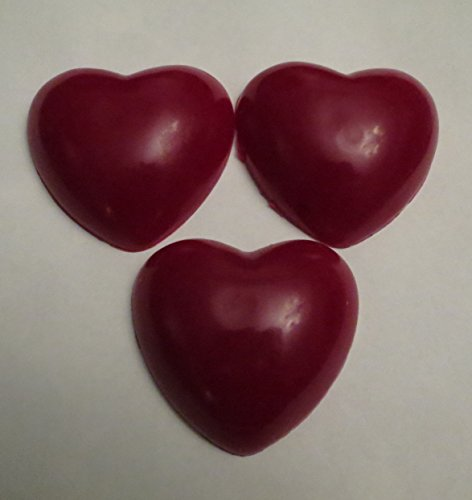 Heart Shaped Bar - Valentine Heart Shaped Soap Red 3 bar package