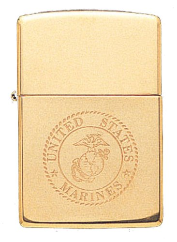 US Marine Solid Brass EGA Logo USMC Military Zippo - Corps Zippo Marine