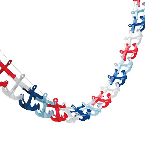 Nautical Anchor Garland Feet Paper