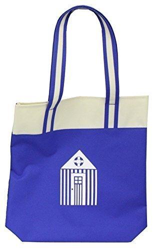 Beach Hut Design Carrier / Shopping / Shoulder Bag - 2 Colours Dark Blue
